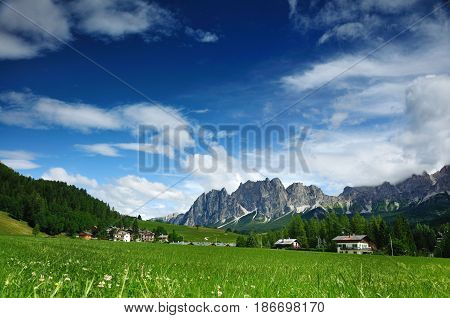 Cortina D Ampezzo resort, South Tyrol ,Italy, Europe