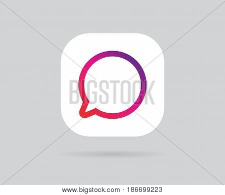 App Icon Template. Vector Gradient Fresh Color
