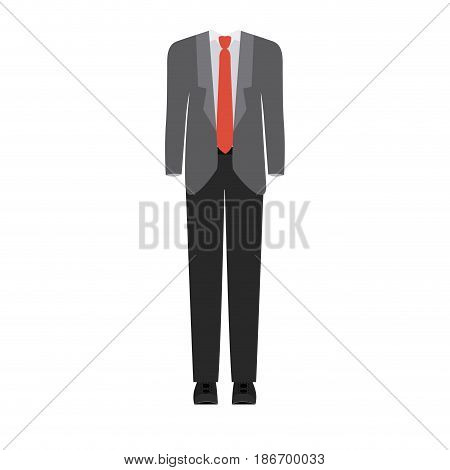 colorful silhouette with male formal suit clothes vector illustration