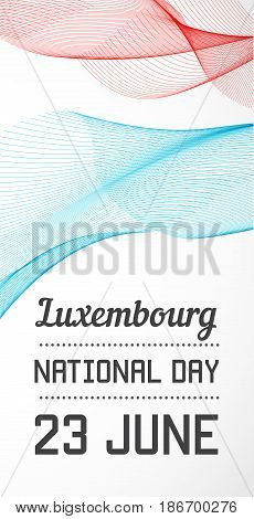 National Day Vertical Banner of the Country in Blending Lines Style Vector with Date