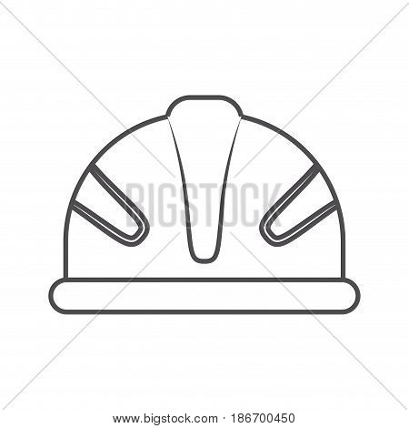 monochrome silhouette of protective worker helmet vector illustration