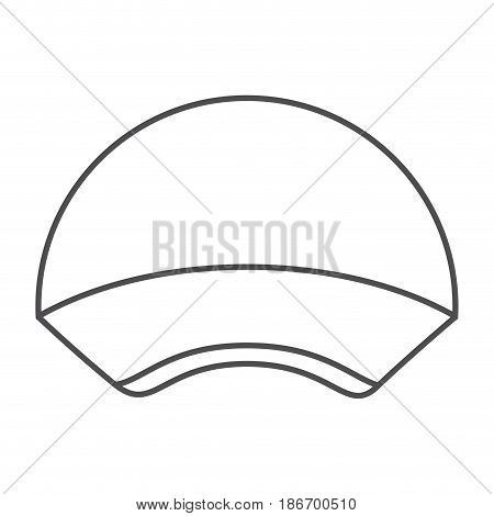 monochrome silhouette with delivery cap vector illustration