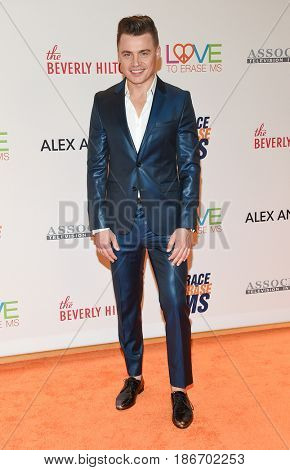 LOS ANGELES - MAY 05:  Shawn Hook arrives for the Race To Erase MS Gala 2017 on May 5, 2017 in Beverly Hills, CA