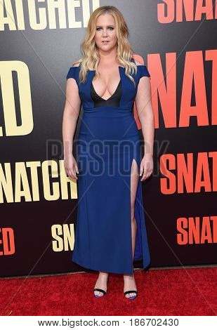 LOS ANGELES - MAY 10:  Amy Schumer arrives for the 'Snatched' World Premiere on May 10, 2017 in Westwood, CA