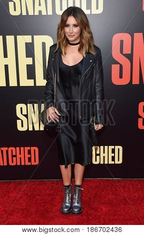LOS ANGELES - MAY 10:  Ashley Tisdale arrives for the 'Snatched' World Premiere on May 10, 2017 in Westwood, CA