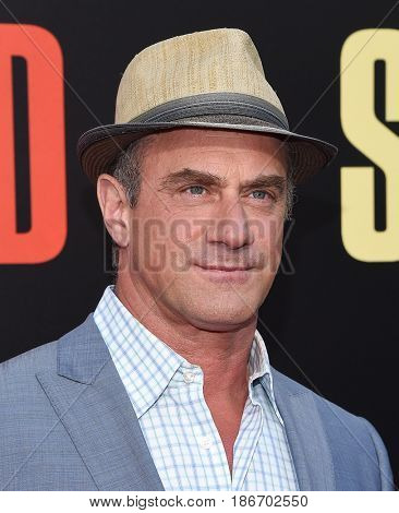 LOS ANGELES - MAY 10:  Christopher Meloni arrives for the 'Snatched' World Premiere on May 10, 2017 in Westwood, CA
