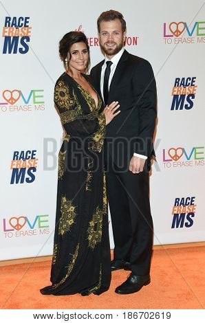 LOS ANGELES - MAY 05:  Jamie-Lynn Sigler and Cutter Dykstra arrives for the Race To Erase MS Gala 2017 on May 5, 2017 in Beverly Hills, CA