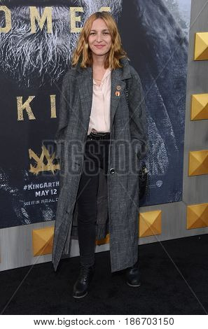 "LOS ANGELES - MAY 08:  Josephine de La Baume arrives for the 'King Arthur: Legend Of The Sword"" World Premiere on May 8, 2017 in Hollywood, CA"