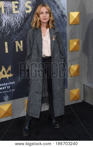 LOS ANGELES - MAY 08:  Josephine de La Baume arrives for the 'King Arthur: Legend Of The Sword