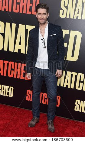LOS ANGELES - MAY 10:  Matthew Morrison arrives for the 'Snatched' World Premiere on May 10, 2017 in Westwood, CA