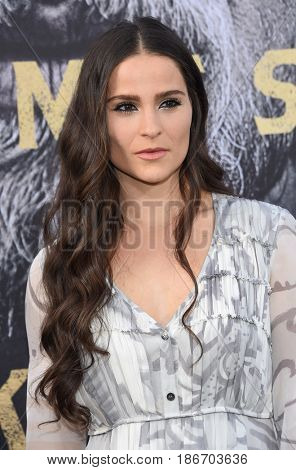 LOS ANGELES - MAY 08:  Gianna Simone arrives for the 'King Arthur: Legend Of The Sword