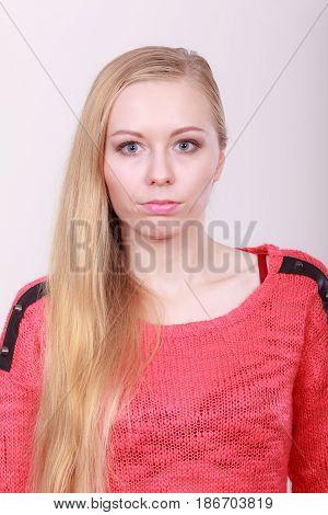 Portrait Of Blonde, Charming Teenage Girl