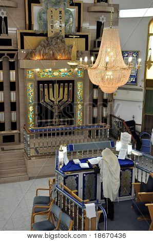 The Jew praying in a synagogue