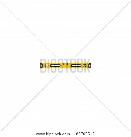 Realistic Bubble Level Element. Vector Illustration Of Realistic Plumb Ruler Isolated On Clean Background. Can Be Used As Construction, Level And Ruler Symbols.
