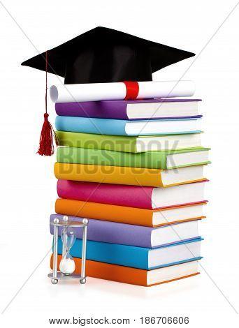 Education book cap university hat graduation learning