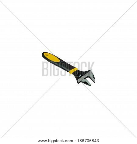 Realistic Spanner Element. Vector Illustration Of Realistic Wrench Isolated On Clean Background. Can Be Used As Wrench, Spanner And Tool Symbols.
