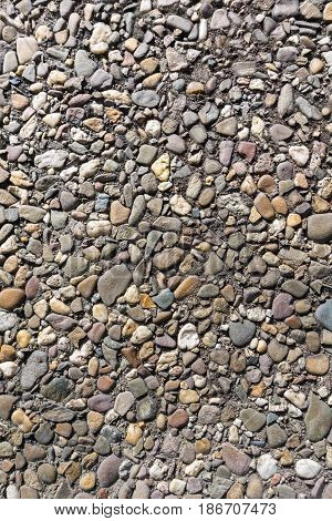 Close-up of a Stone Wall. Stones. Close-up of  a Stony Ground. Geology. Grey Stones