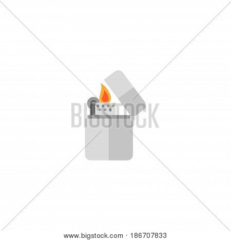 Flat Lighter Element. Vector Illustration Of Flat Cigarette Isolated On Clean Background. Can Be Used As Cigarette, Lighter And Lamp Symbols.