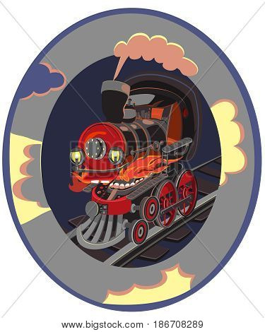 Set of modern railway transport locomotives, speed passengers trains, wagons. Railroad transportation and cargo carriage coal. Logistics industry vector illustration in flat style