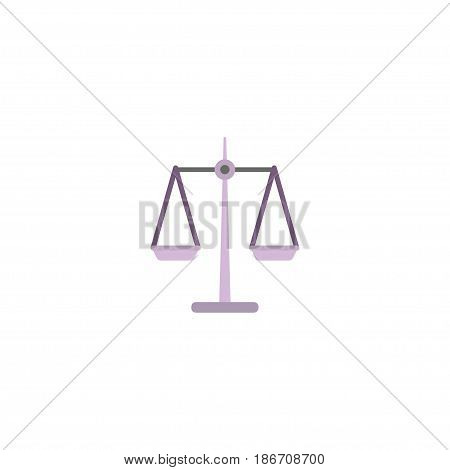 Flat Scales Element. Vector Illustration Of Flat Libra Isolated On Clean Background. Can Be Used As Scales, Libra And Weight Symbols.
