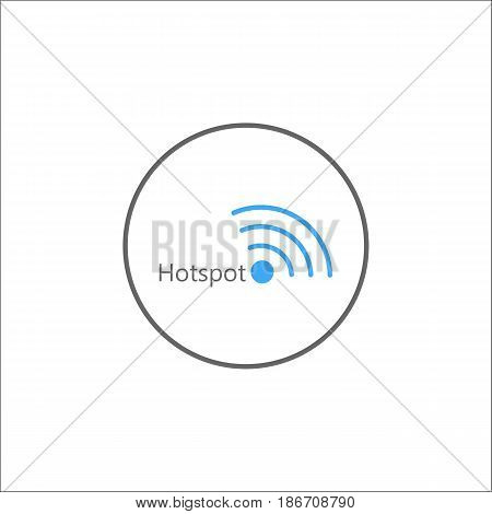 Hotspot solid icon, mobile sign and wifi zone, vector graphics, a colorful linear pattern on a white background, eps 10.