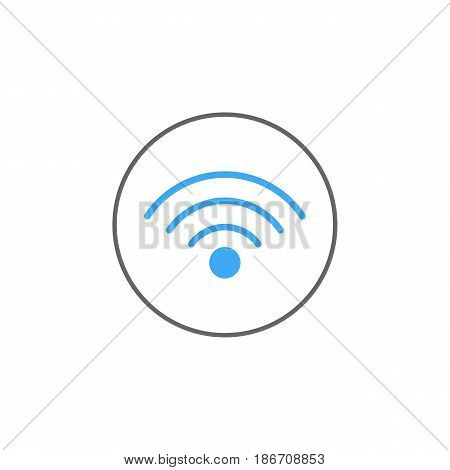 Wifi solid icon, mobile sign and hotspot, vector graphics, a colorful linear pattern on a white background, eps 10.