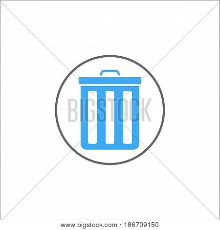 delete and bin solid icon, mobile sign and garbage trash pictogram, vector graphics, a colorful linear pattern on a white background, eps 10.