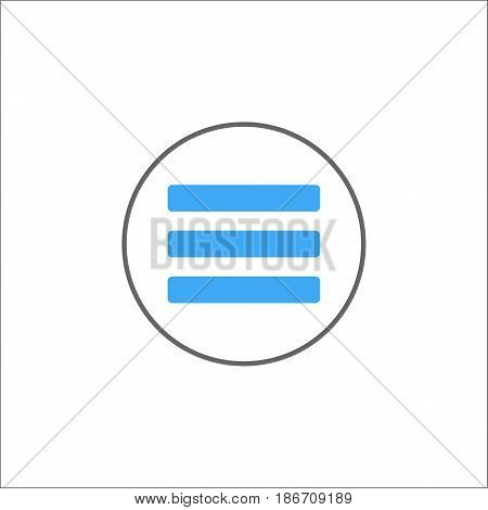 Menu solid icon, mobile sign and hamburger pictogram, vector graphics, a colorful filled pattern on a white background, eps 10.