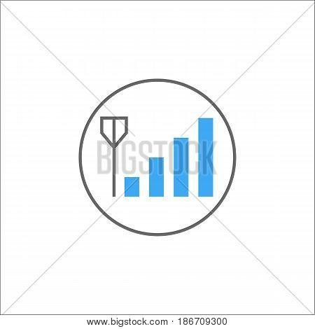 Mobile signal solid icon, mobile sign and network pictogram, vector graphics, a colorful filled pattern on a white background, eps 10.