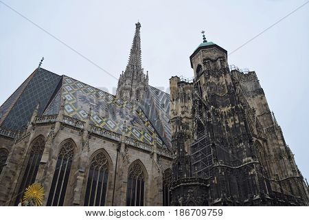 Saint Stephen Cathedral In Vienna, Austria