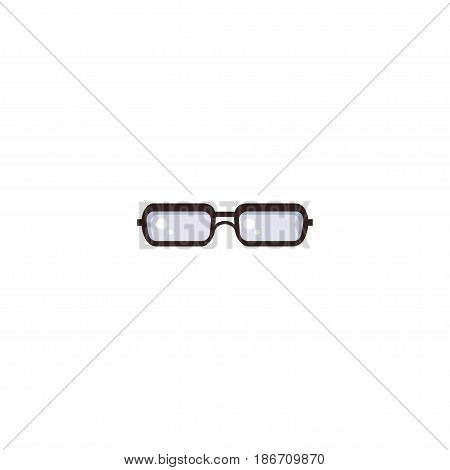 Flat Glasses Element. Vector Illustration Of Flat Spectacles Isolated On Clean Background. Can Be Used As Glasses, Spectacles And Eyeglasses Symbols.