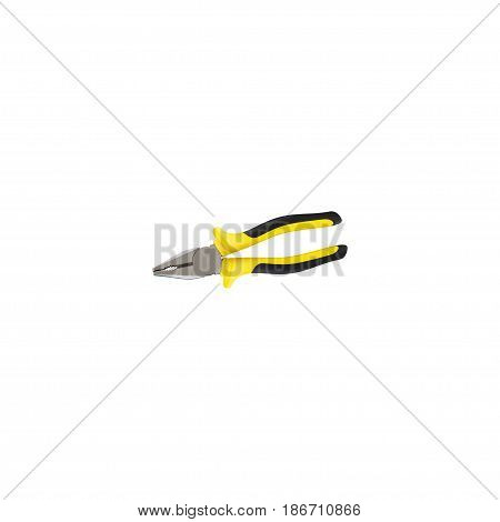 Realistic Tongs Element. Vector Illustration Of Realistic Pliers Isolated On Clean Background. Can Be Used As Tongs, Pincers And Pliers Symbols.