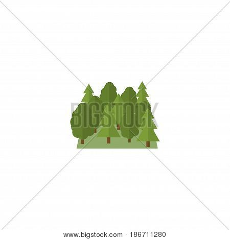 Flat Forest Element. Vector Illustration Of Flat Wood Isolated On Clean Background. Can Be Used As Wood, Forest And Tree Symbols.