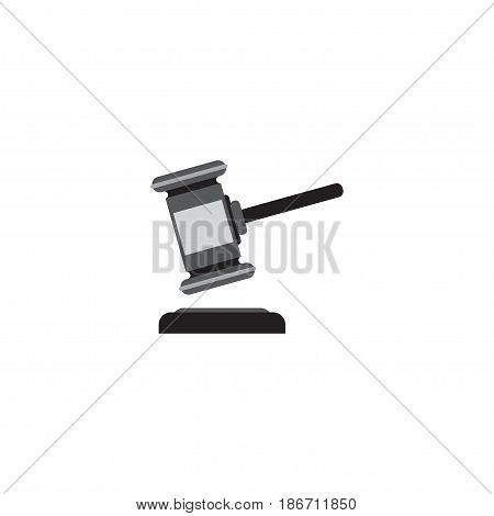 Flat Auction Element. Vector Illustration Of Flat Verdict Isolated On Clean Background. Can Be Used As Auction, Verdict And Gavel Symbols.