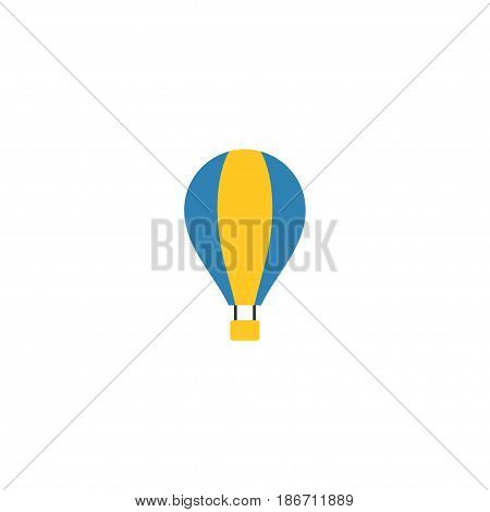Flat Air Balloon Element. Vector Illustration Of Flat Airship Isolated On Clean Background. Can Be Used As Airship, Balloon And Sky Symbols.