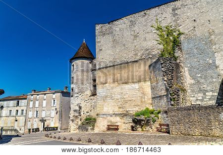 The Chateau des Valois, a medieval castle in Cognac - France, Charente