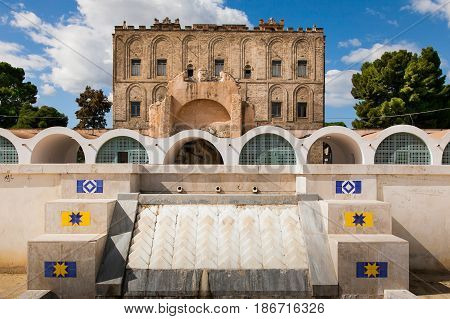 Palermo, Italy - October 14, 2009: The Zisa Is A Castle In Palermo, Sicily And Is A Structure Of Ara