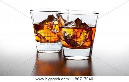 Rum glasses whiskey drink whisky bourbon brandy
