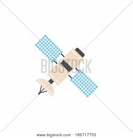 Satellite solid icon, navigation and communication, vector graphics, a colorful flat pattern on a white background, eps 10.