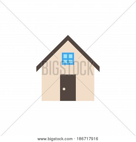 House solid icon, home and building sign, vector graphics, a colorful flat pattern on a white background, eps 10.