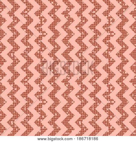 Seamless Vector Striped Pattern. Geometric Background With Zigzag. Grunge Texture With Attrition, Cr