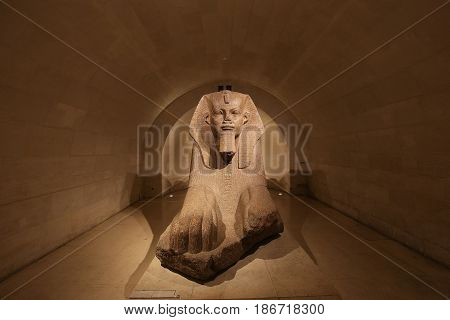 Sphinx Of Tanis, The Louvre, Paris, France