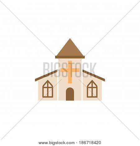 Church solid icon, religious monument and building sign, vector graphics, a colorful flat pattern on a white background, eps 10.