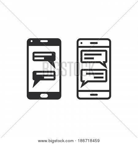 Instant Messaging Client For Smartphone Line Icon, Outline And Solid Vector Sign, Linear And Full Pi
