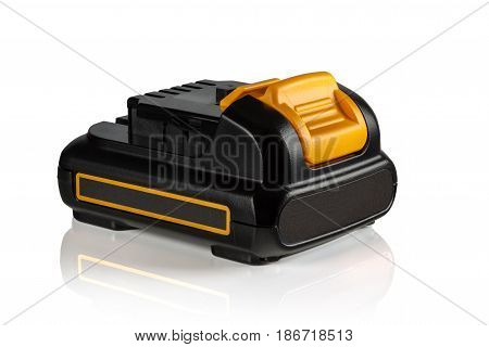 battery for power tool on white background