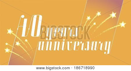 40 years anniversary vector icon, logo. Graphic design element or banner for 40th anniversary