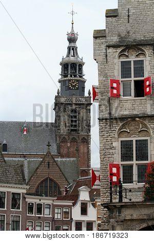 Netherlands Zuid-Holland Gouda june 2016: historical view
