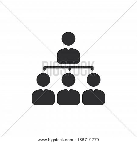 Manager icon vector filled flat sign solid pictogram isolated on white. Organization chart symbol logo illustration. Pixel perfect
