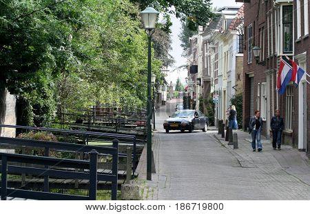 Netherlands Zuid-Holland Gouda june 2016: street-view Peperstraat