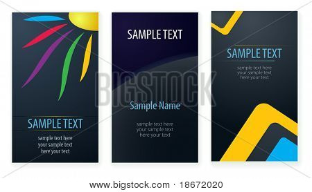 Set of business cards templates.